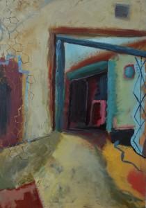 Back Entrance 3 Oil on canvas