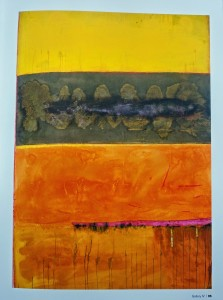 Across the Wadi by Frank Bowling