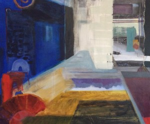 Oaklands Basement 3  Acrylic on canvas 1200x1000mm