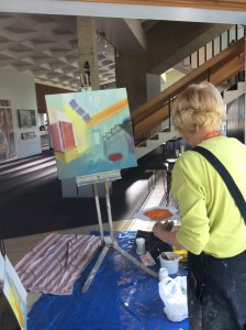 Painting in the Foyer 7.7.15