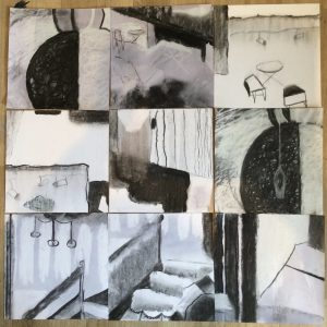 A medley of small drawings from CFT residency